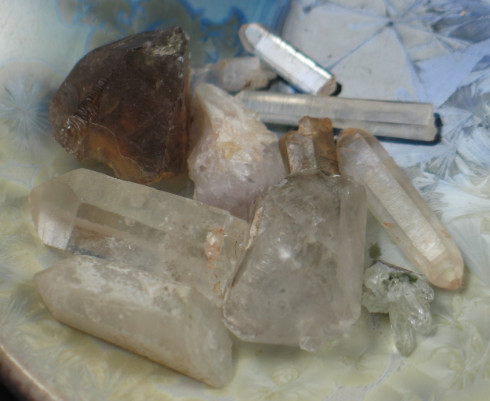 Lot of Healing Quartz Crystals  :: Image is of piece for sale.