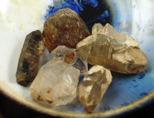 Group of Healing Crystals :: Image is of piece for sale.