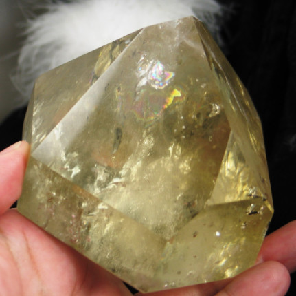 Glorious Rainbow Citrine Point