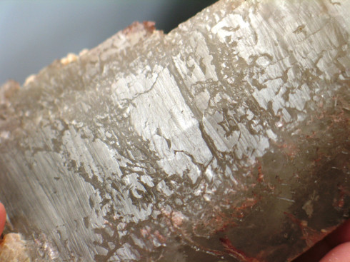 Thermo Solution Quartz Crystal Wth Red Hematite :: Image is of piece for sale.
