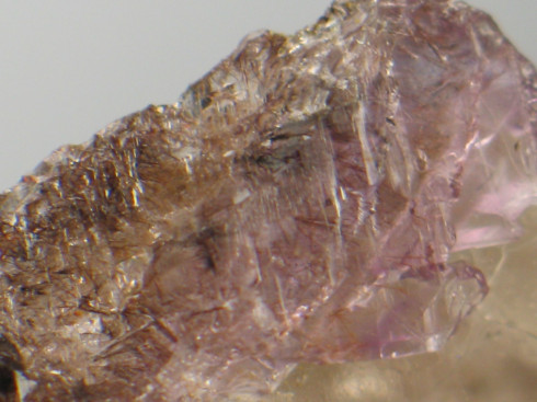 Sweet Smoky Amethyst Elestial w/Goethite :: Image is of piece for sale.