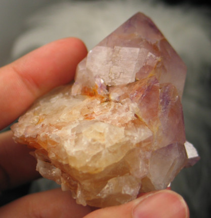 Golden Amethyst Spirit Quartz Cluster :: Image is of piece for sale.