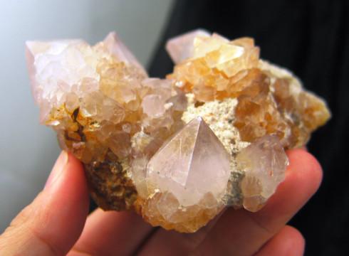 Golden Lavender Spirit Quartz Cluster :: Image is of piece for sale.