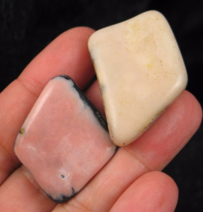 Charming Pink Opal Duo :: Image is of piece for sale.