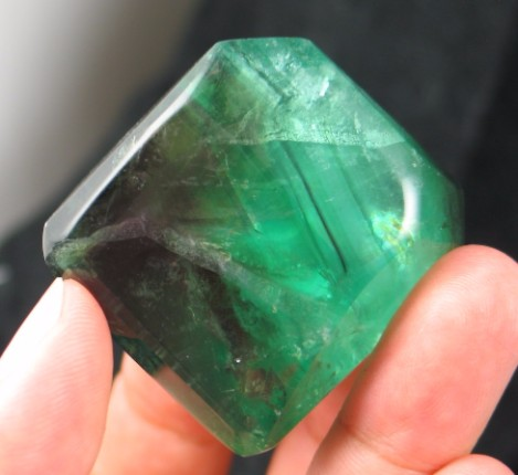Gorgeous Gemmy Fluorite Freeform :: Image is of piece for sale.