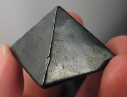 Grounding Shungite Pyramid :: Image is of piece for sale.