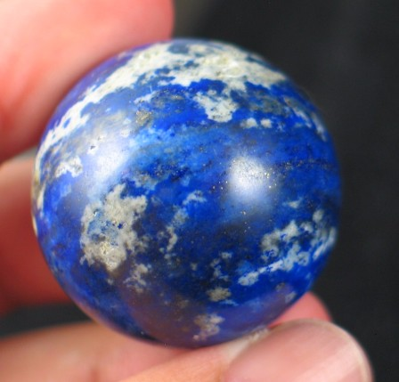 Lovely Indigo Lapis Lazuli Ball :: Image is of piece for sale.
