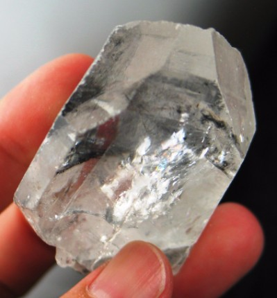Old Spirit Carbon Included Quartz Crystal :: Image is of piece for sale.