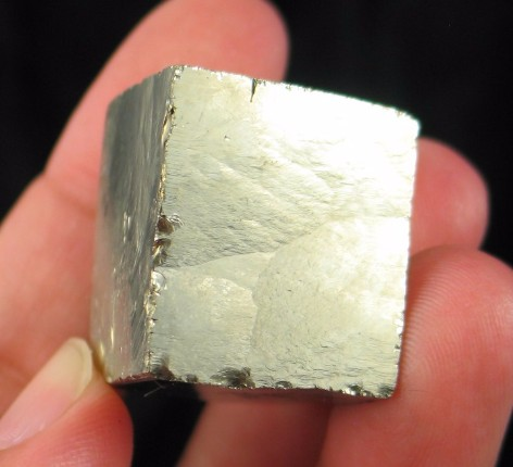 Golden Pyrite Cube :: Image is of piece for sale.