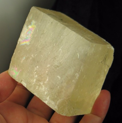Large Golden Calcite Rhomb :: Image is of piece for sale.