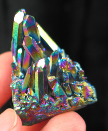 Small Titanium Quartz Cluster :: Image is of piece for sale.
