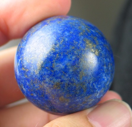 Sweet Lapis Lazuli Ball :: Image is of piece for sale.