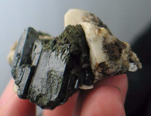 Aegerine with Feldspar Formation :: Image is of piece for sale.