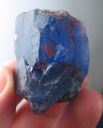 Deep Blue Fishstick Fluorite :: Image is of piece for sale.