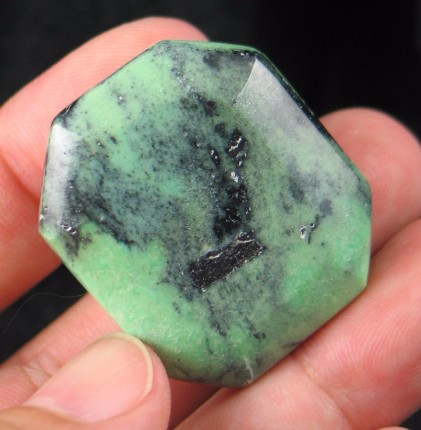 Rich Variscite Rectangle :: Image is of piece for sale.