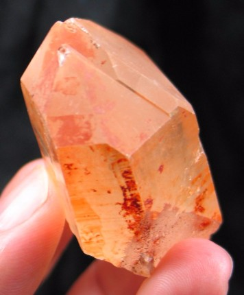 Warm Tangerine Twin Quartz Crystal :: Image is of piece for sale.