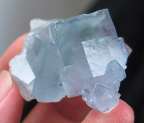 Sky Blue Chinese Fluorite Cluster :: Image is of piece for sale.