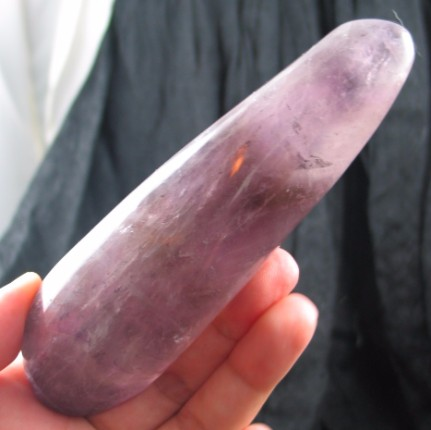 Gorgeous Smoky Amethyst Massage Wand :: Image is of piece for sale.