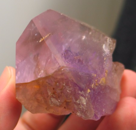 Gorgeous Smoky Amethyst Elestial Crystal  :: Image is of piece for sale.