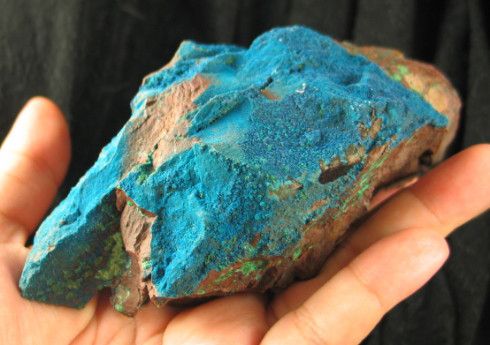 Brilliant Blue Shattuckite Natural Formation :: Image is of piece for sale.