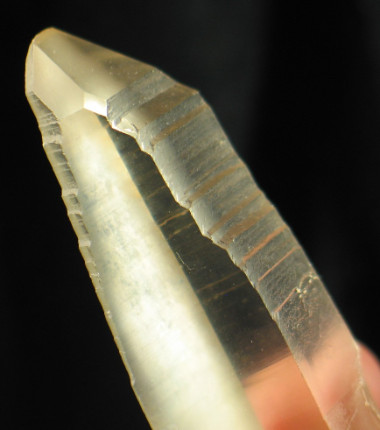 Golden Lemurian Quartz Crystal with Past TL :: Image is of piece for sale.