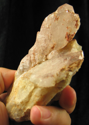 White Phantom Orange River Quartz Elestial Complex :: Image is of piece for sale.