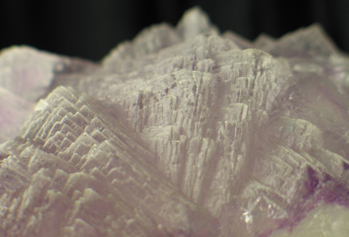 Steely Purple and Blue Naica Fluorite Formation :: Image is of piece for sale.