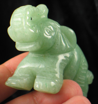 Green Aventurine Elephant :: Image is of piece for sale.