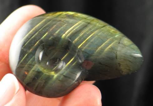 Ammonite Carved Labradorite - Regina :: Image is of piece for sale.