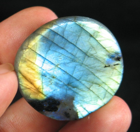 Colorful Labradorite Button :: Image is of piece for sale.