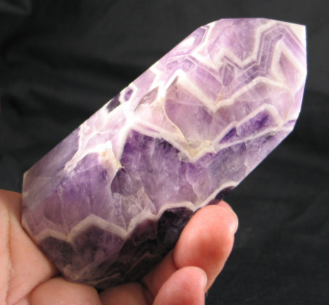 Gorgeous Amethyst Lace Polished Point :: Image is of piece for sale.