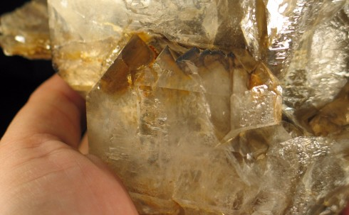 Glowing Smoky Quartz DT Elestial with Mica :: Image is of piece for sale.