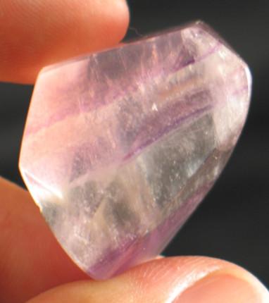 Streaked Purple Fluorite Freeform :: Image is of piece for sale.
