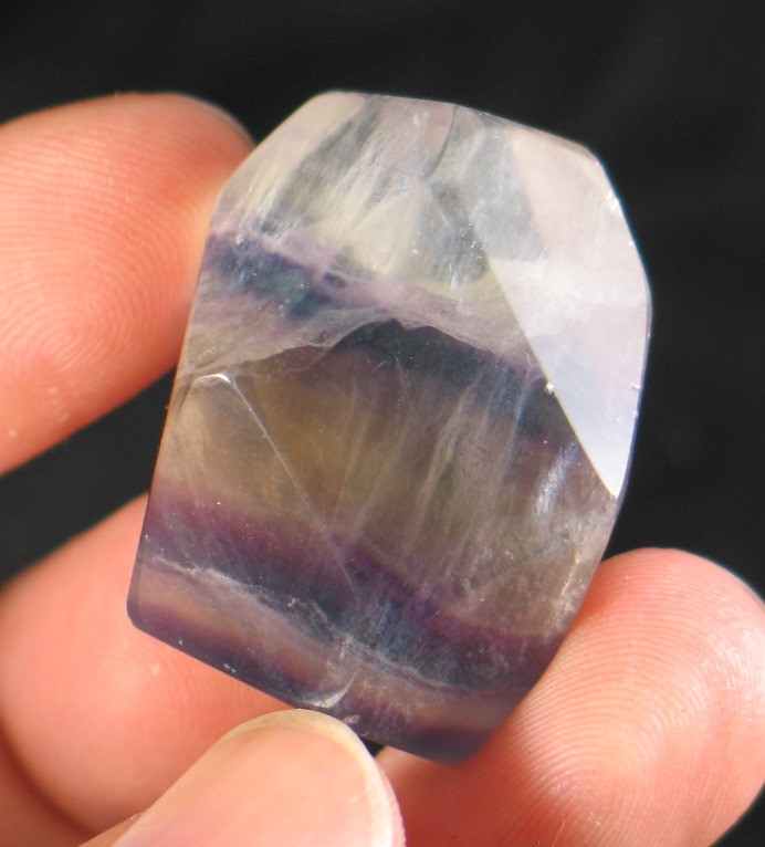 Sweet Rainbow Fluorite Freeform :: Image is of piece for sale.