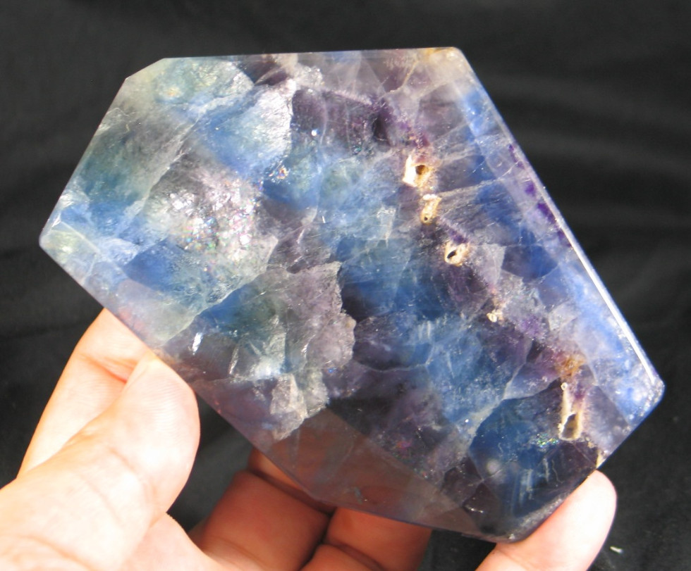 Stunning Blue & Purple Fluorite Slab :: Image is of piece for sale.