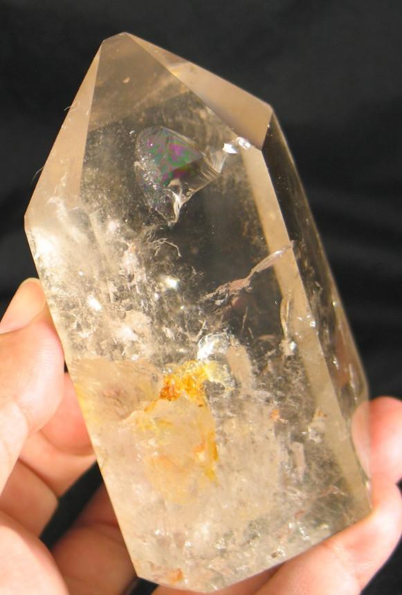 Large Polished Golden Healer Quartz Point :: Image is of piece for sale.