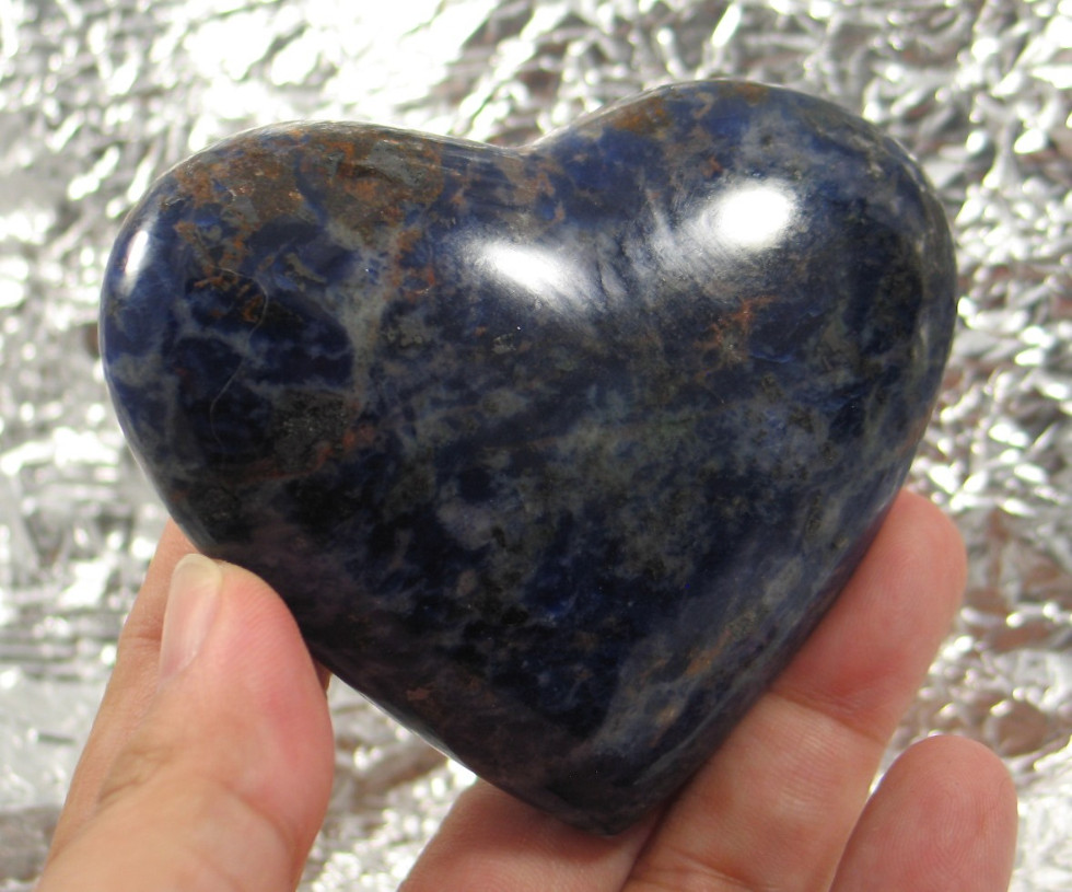 Stimulating Rich Blue Sodalite Heart :: Image is of piece for sale.