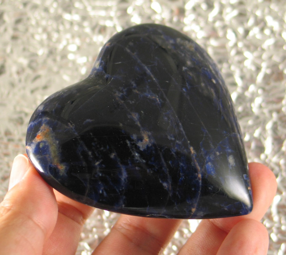 Rich Blue Sodalite Heart :: Image is of piece for sale.