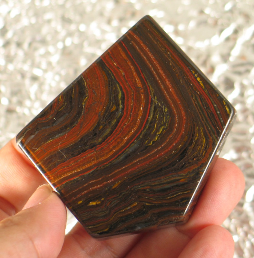 Banded Tiger Iron Slab :: Image is of piece for sale.