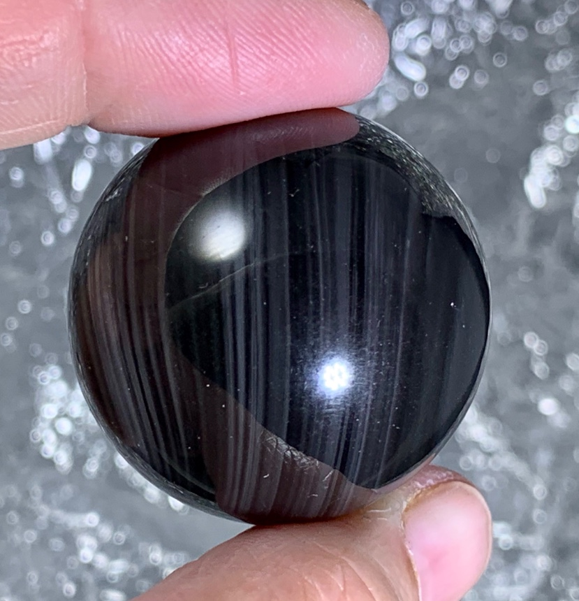 Rainbow Obsidian Sphere :: Image is of piece for sale.