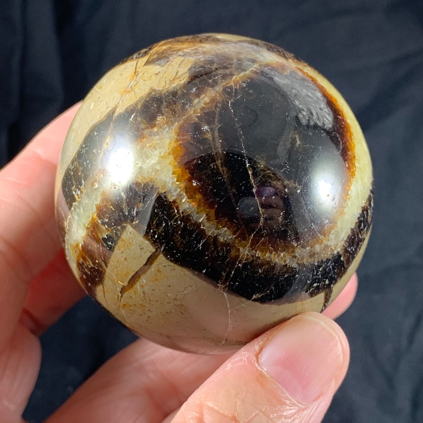 Septarian Calcite Sphere :: Image is of piece for sale.