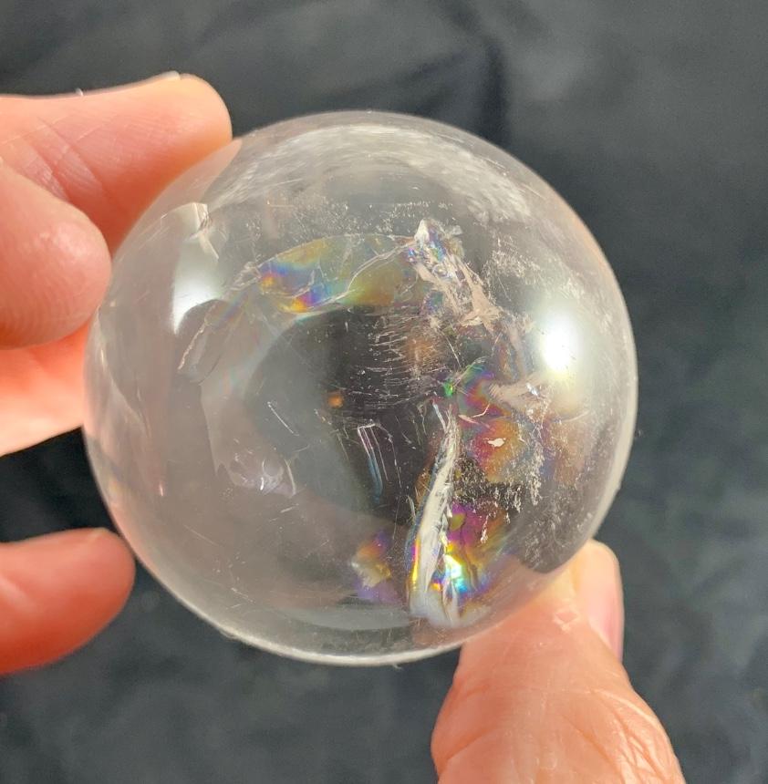 Rainbow 🌈 Phantom Quartz Sphere :: Image is of piece for sale.