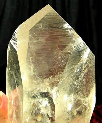 Phenomenal Hitchhiker Large Lemurian Seed Dow Bridge Quartz Crystal :: Image is of piece for sale.