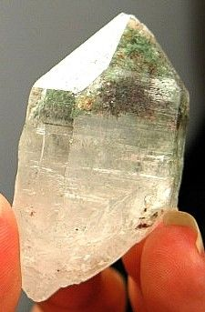 Sweet DT Chlorite Eroded Self-Healed Himalayan Quartz Crystal  :: Image is of piece for sale.