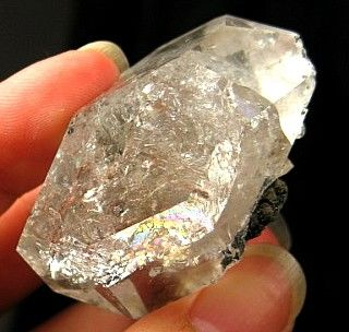 Lovely Rainbows Smoky Phantom Herkimer DT Quartz Crystal