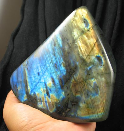Magnificent Standing Labradorite Freeform :: Image is of piece for sale.