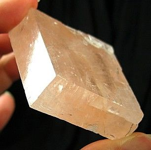 Bright Pink Optical Calcite Rhomb