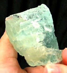 Breathtaking Etched Blue-Green Solution Aquamarine :: Image is of piece for sale.